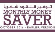 Monthly Money Saver - October 2016