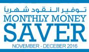 Monthly Money Saver November - December 2016