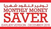 Monthly Money Saver  - December 2016